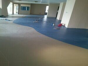 广州健健幼儿园PVC卷材地板胶