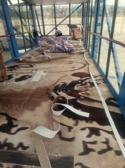 广州南沙港1200g尼龙印花地毯