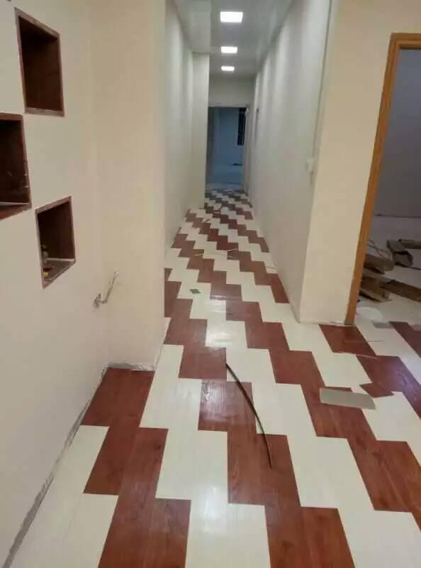 广州新塘宠物店木纹地板胶工程案例